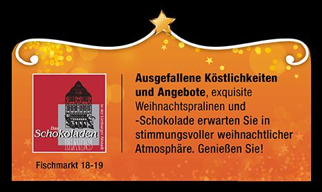 Schokoladenhaus Sternschnuppenangebot