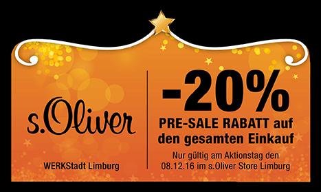 S. Oliver 20 % Rabatt Sternschnuppenangebot