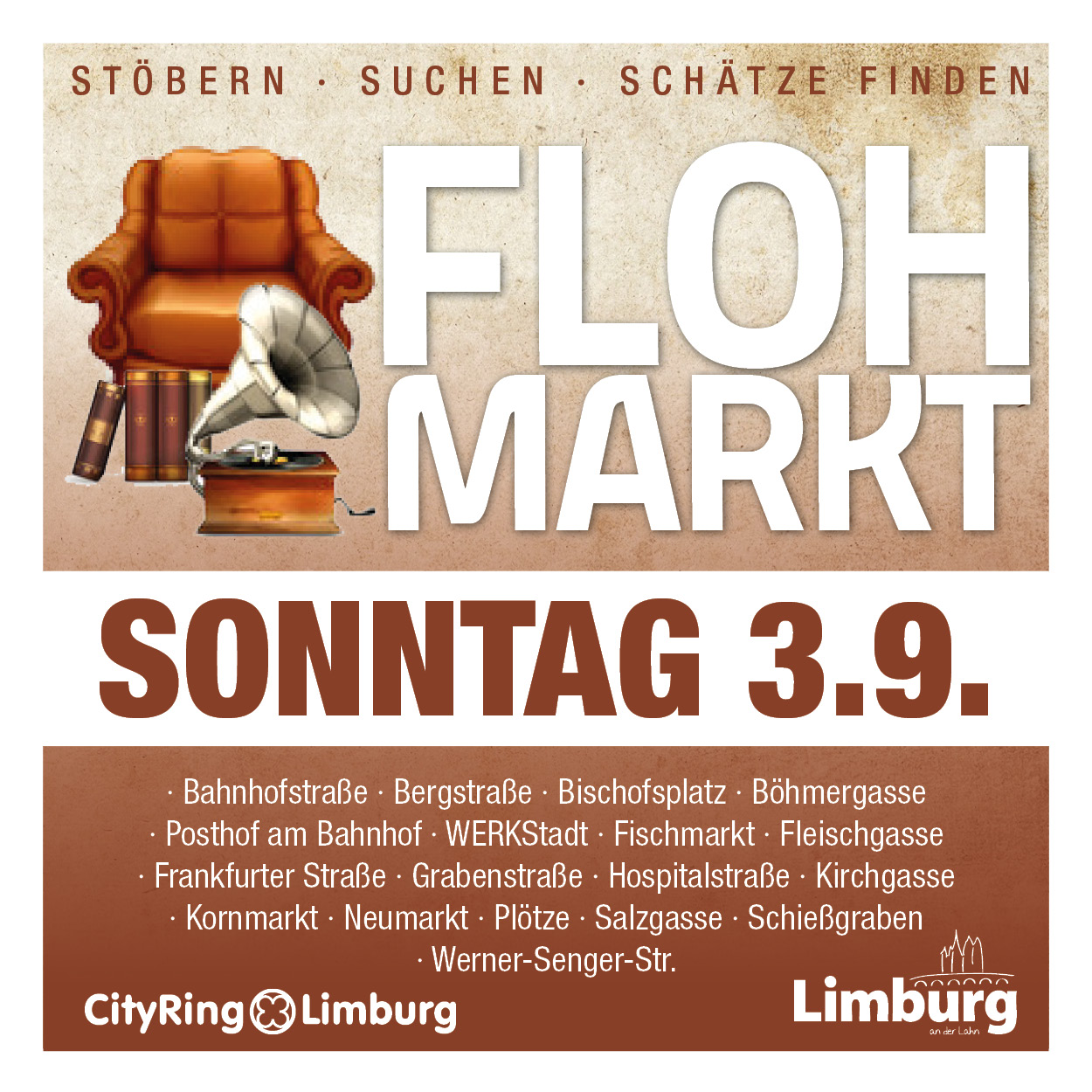 47 limburger flohmarkt am sonntag 3 september 2017 cityring limburg. Black Bedroom Furniture Sets. Home Design Ideas