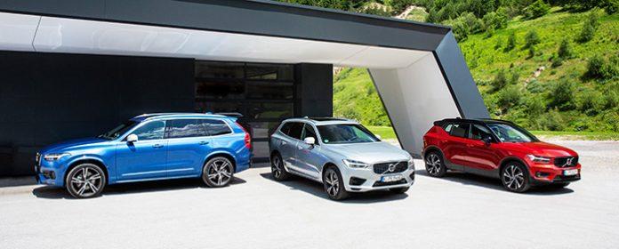 Die neuen Modelle Volvo XC90, Volvo XC60 und Volvo XC40