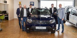 Das Team vom Autohaus Staffel v. l. R. Giedrowicz, A. Barth, V. Schweizer, U. Schweitzer und H. Dünnes
