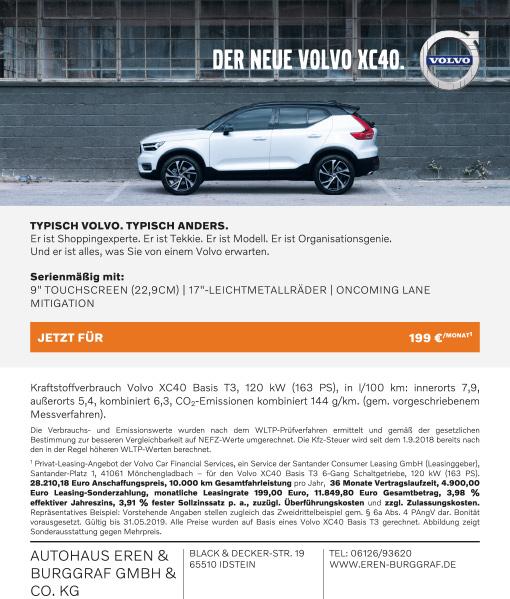 Autohaus Eren & Burggraf Anzeige