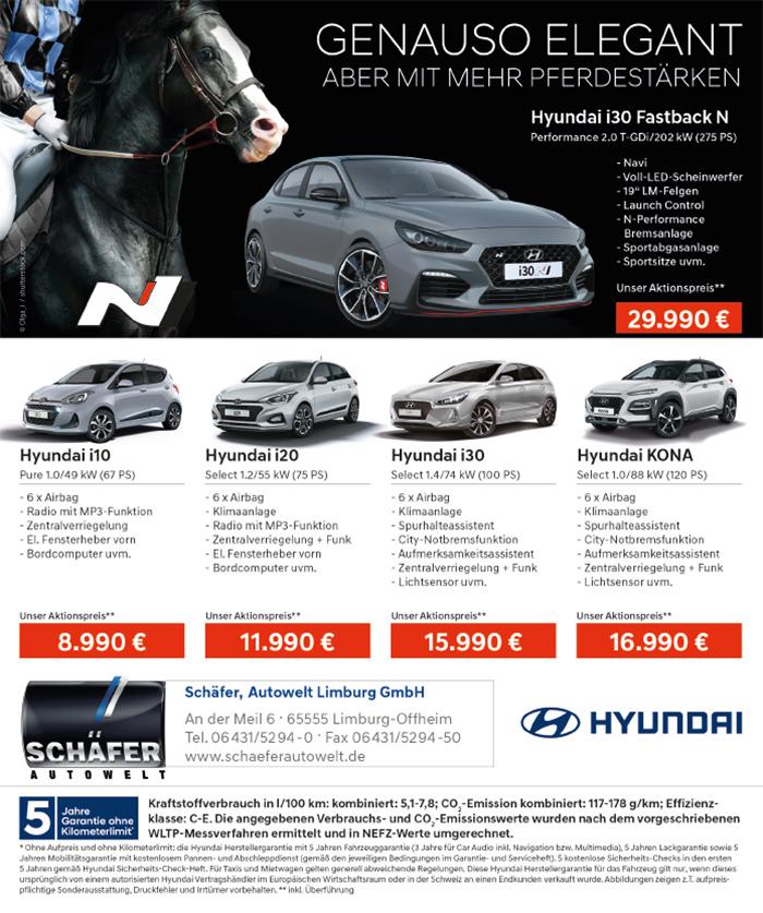 Schäfer Autowelt Hyundai Anzeige